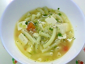 みじん切り野菜のスープ