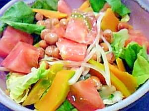 ちょっと甘めの即席酢大豆サラダ