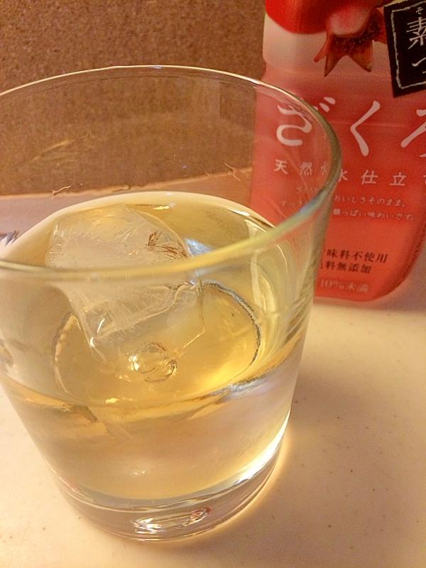 ふんわり鏡月~ざくろ&ウイスキー
