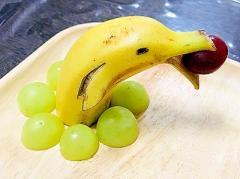 簡単!バナナで作るイルカさん