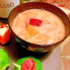 薩摩芋とお揚げのまろやか豆乳味噌汁