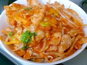 丼や焼そばに 豚バラともやしの白菜キムチあんかけ レシピ 作り方 By