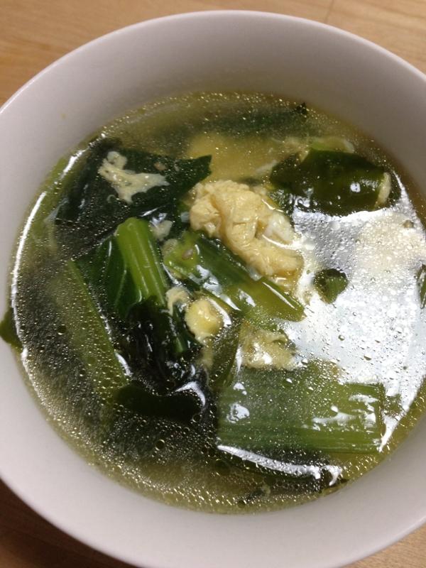 小松菜とわかめのたまごスープ☆