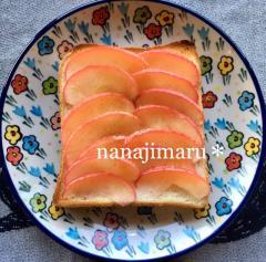 【モーニング☆】焼きりんごトースト