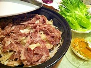 ラム肉とくず野菜の蒸し焼きタジン