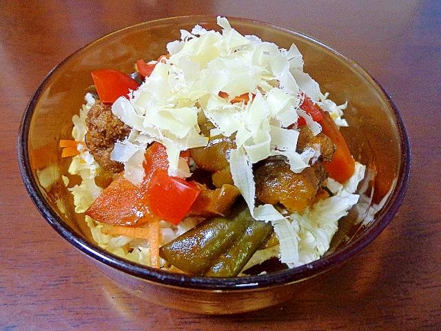 残り物リメイク♪茄子と牛肉のホットクールサラダ