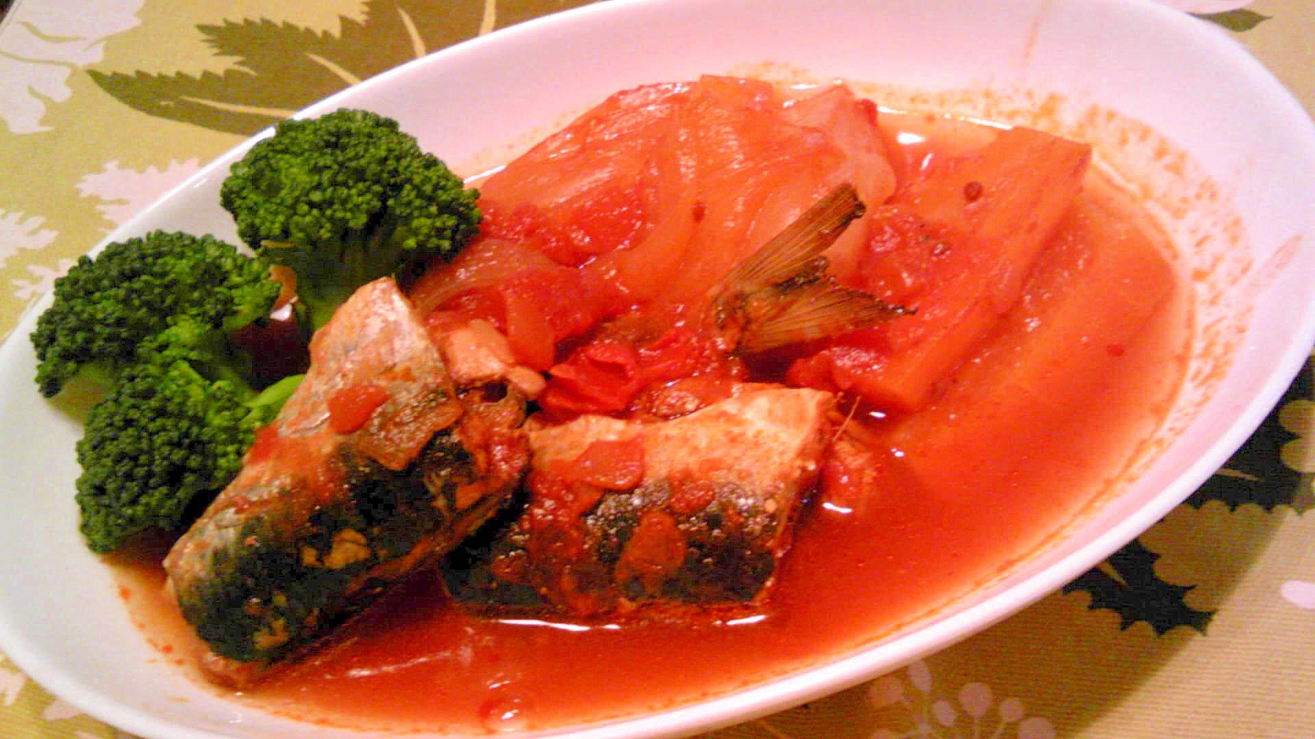 鰯の圧力鍋トマト煮