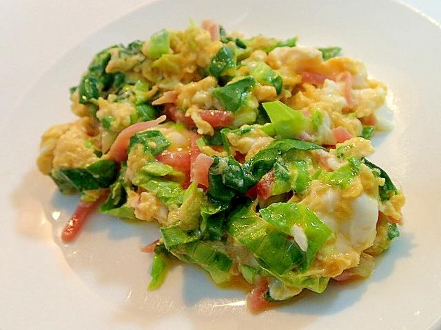 3.卵とサラダ菜炒め