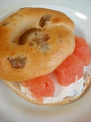 ベーグルdeグレープフルーツ&サワークリームサンド