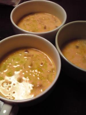 作り置き根菜+かぼちゃのパンプキンポタージュ