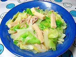 凍み豆腐とキャベツの煮浸し