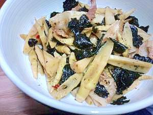 おふくろの味*細竹と豚バラと海苔の炒め煮*