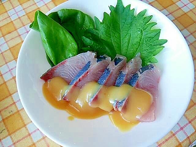 ★夏にさわやかハマチの柚子味噌小鉢★