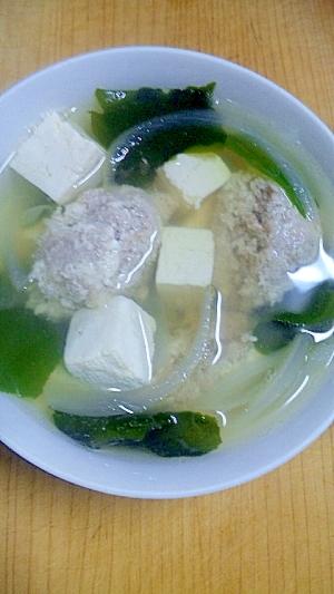 ふわふわ!肉豆腐だんごスープ