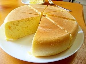 炊飯器でどーん♪極厚ホットケーキ レシピ・作り方 by いとうあつこ|楽天レシピ