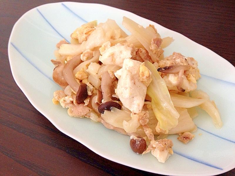 5. ツナとキャベツの豆腐チャンプルー