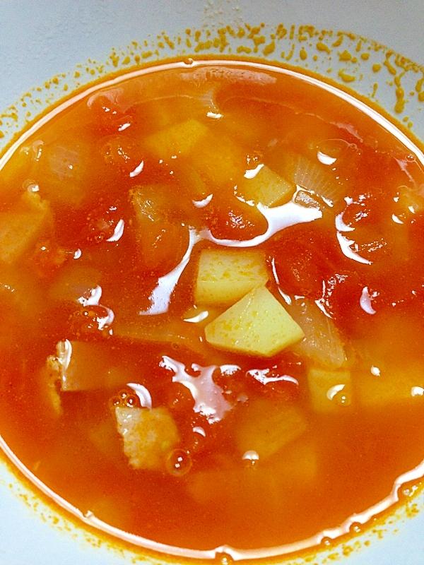 生トマトで☆トマトとじゃがいものスープ レシピ・作り方 by ももぞう。|楽天レシピ