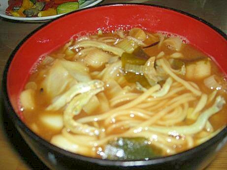 中華風素麺味噌汁