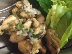 牡蠣のエスカルゴバターソテー
