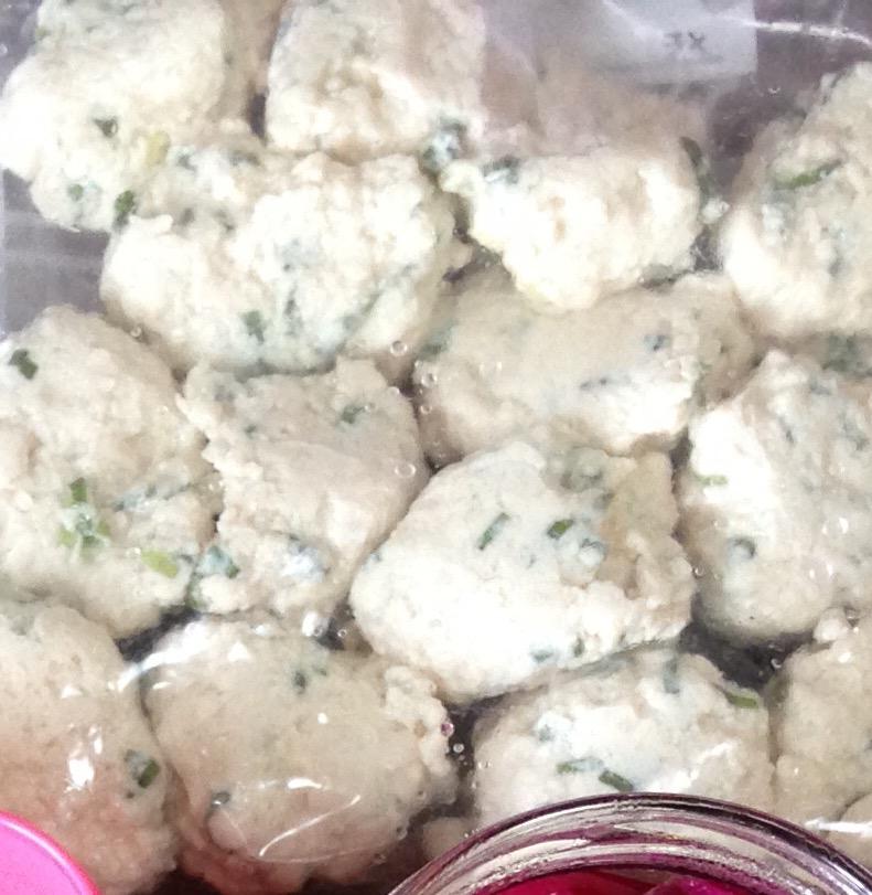 作り置き…豆腐とり団子**冷凍保存