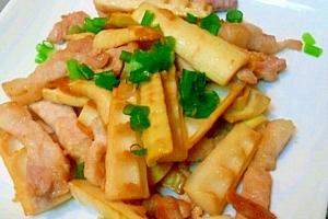 *破竹(筍)と豚肉の旨塩炒め* レシピ・作り方 by ちりおじ|楽天レシピ