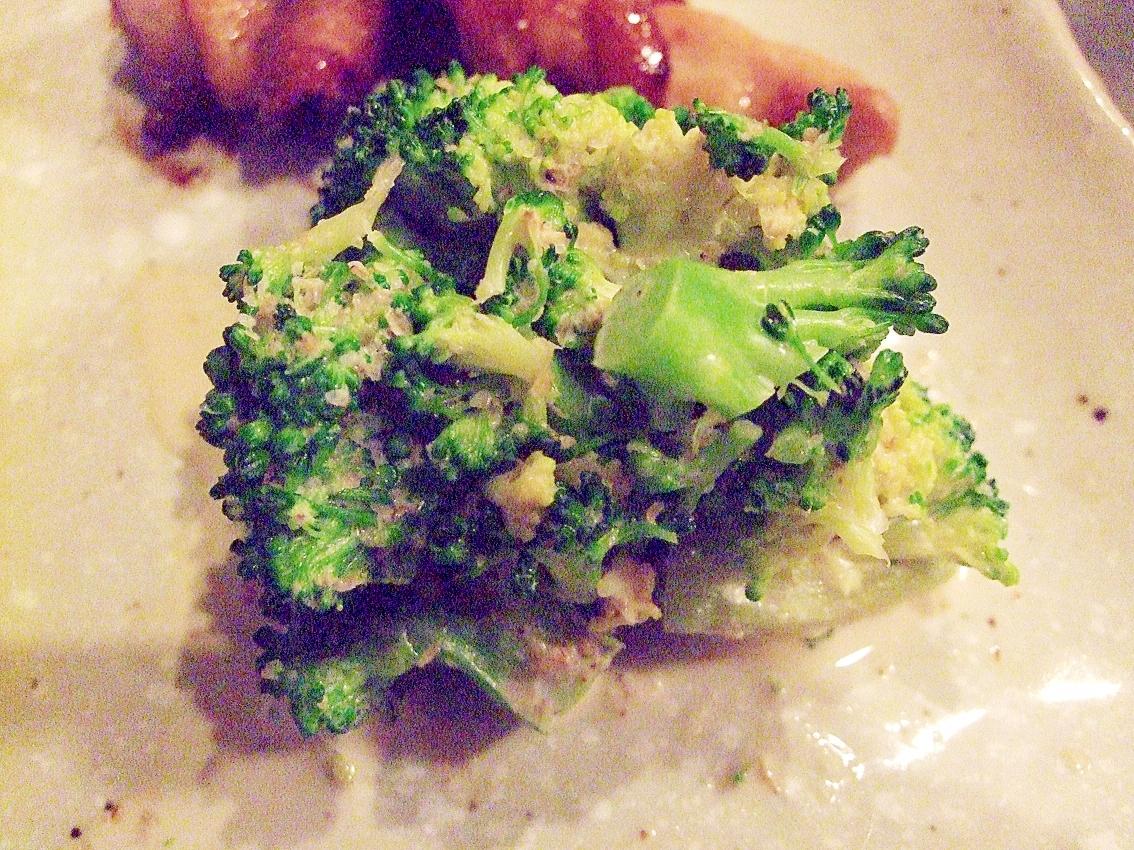 簡単副菜☆ブロッコリーの和風マヨネーズ和え