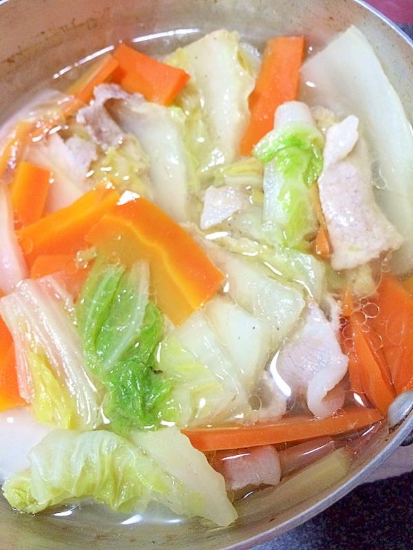 [簡単]重ねて!白菜と豚肉のミルフィーユ鍋♪
