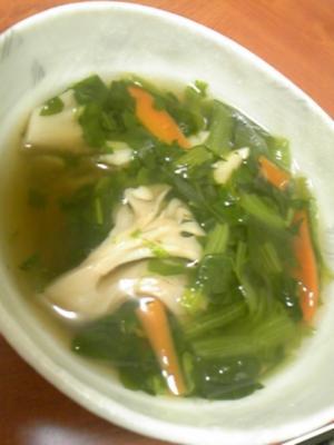 体ポカポカ☆生姜入り☆小松菜と舞茸のスープ