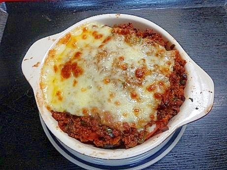 トマト+なす+チーズ相性いい?ひき肉グラタン