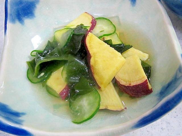 秋~焼き芋の酢の物