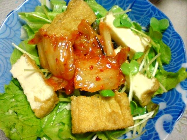 カリッとピリ辛厚揚げキムチサラダ