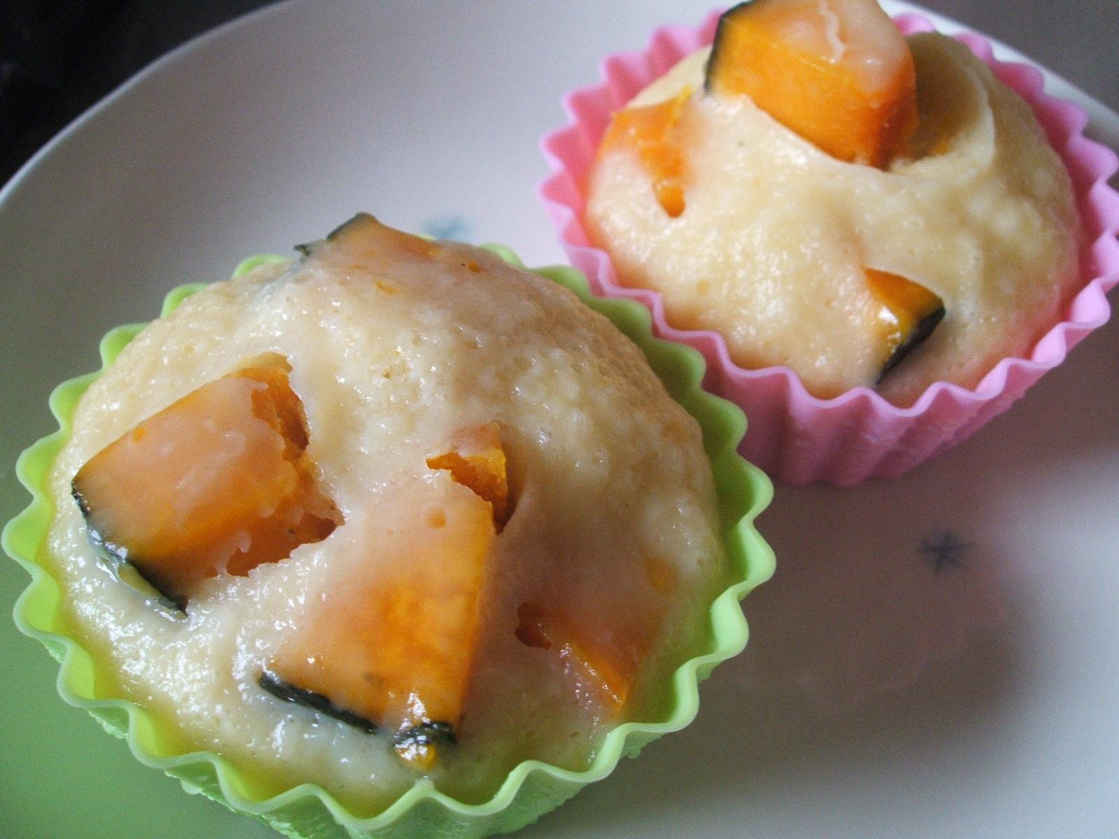 かぼちゃとクリームチーズの蒸しパン
