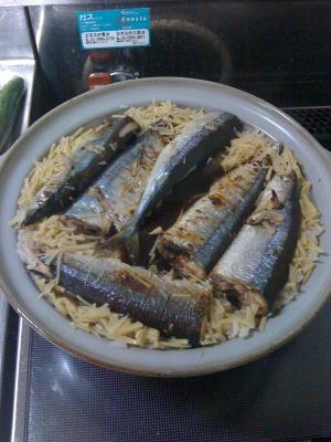 【本格派】土鍋で作るサンマご飯