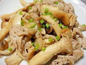 エリンギと豚肉☆ガーリックバター醤油炒め☆ レシピ・作り方 by cucuri|楽天レシピ