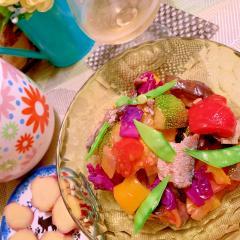 燻製オイルサーディンと彩り野菜のカポナータ