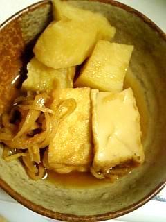 山芋と厚揚げと切り干し大根の煮物
