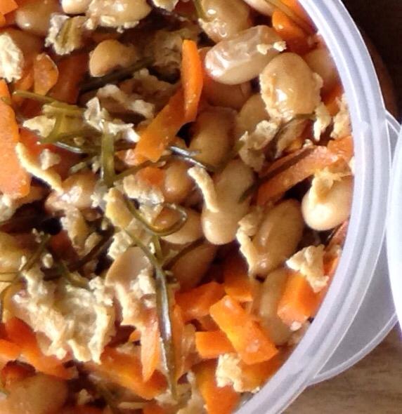 常備菜…大豆と刻み昆布の煮物**