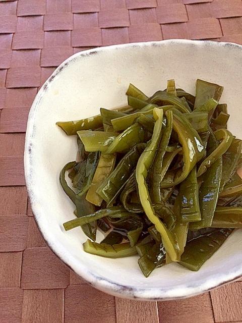 簡単おつまみ♪茎わかめの梅酢漬け✿ レシピ・作り方