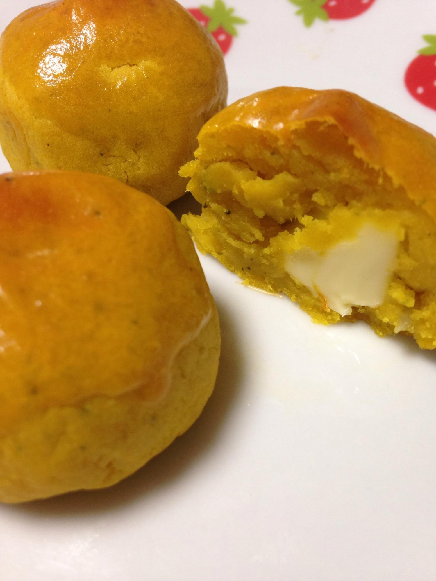 ヘルシー!さつまいもとかぼちゃのチーズ饅頭 レシピ・作り方 by ゆずっこぷーりん|楽天レシピ