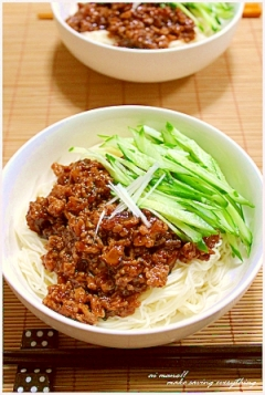 ジャージャー素麺