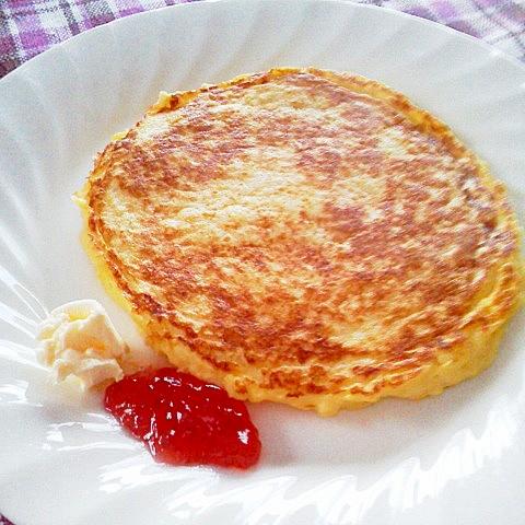 22. パン粉でフレンチトースト風パンケーキ