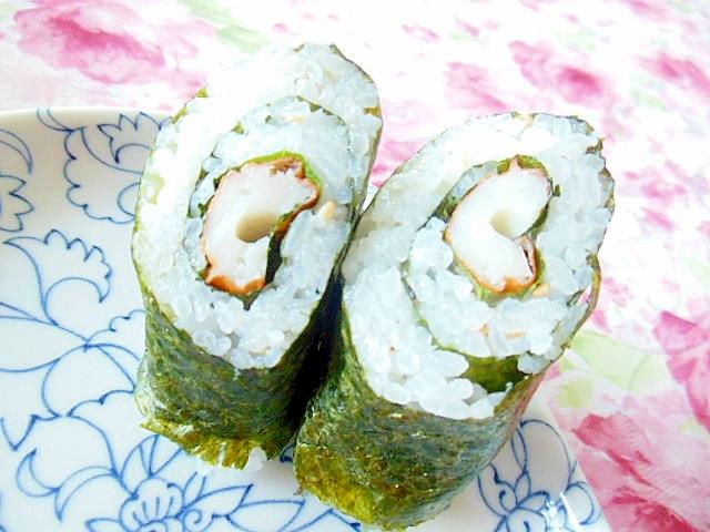 大葉と竹輪と山葵マヨのチビ巻き寿司