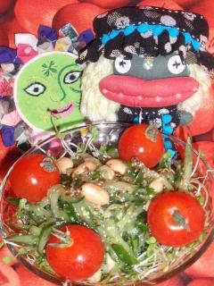 大豆とキュウリのヴィネガーマスタードサラダ