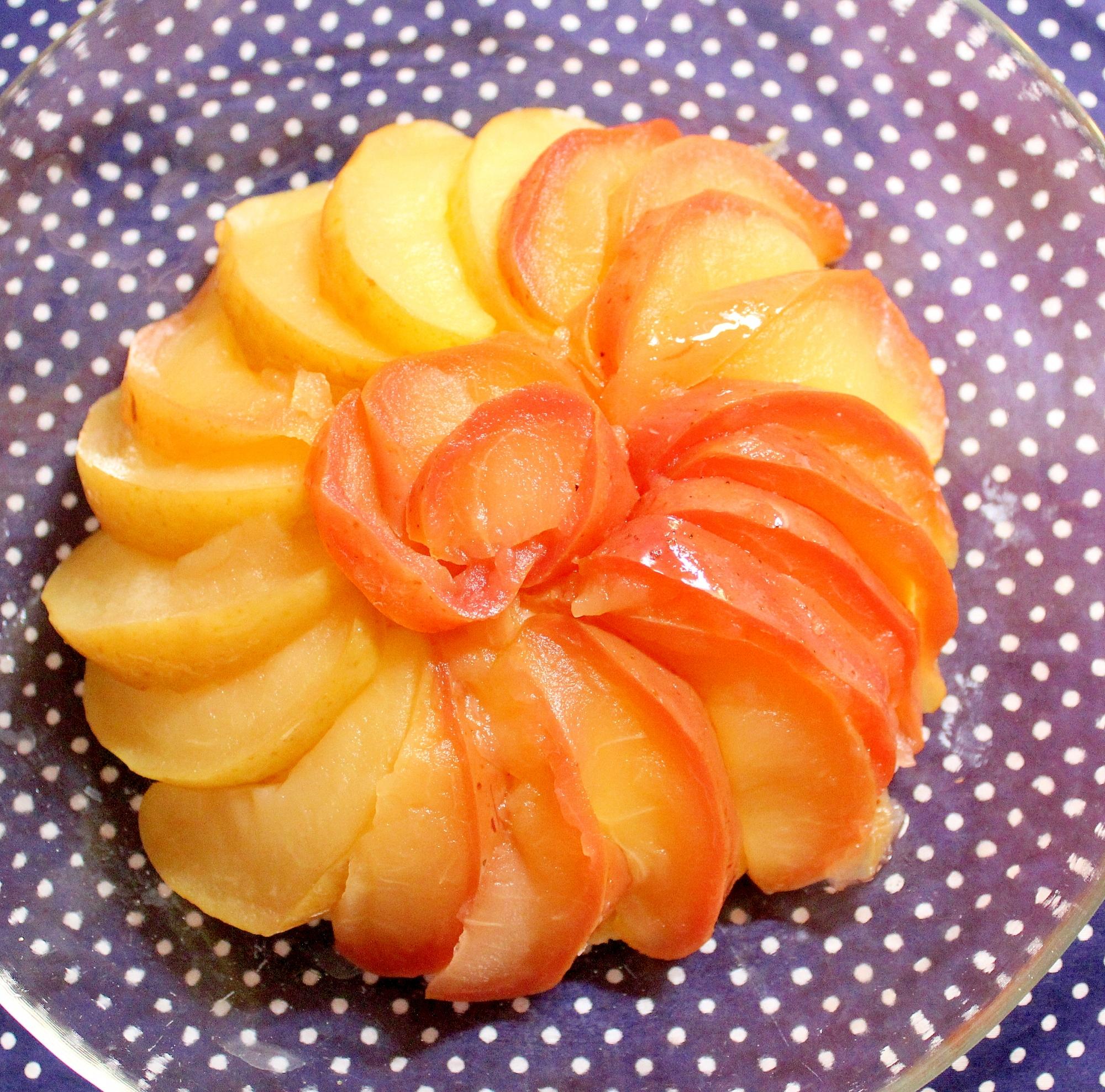 1歳誕生日に♪簡単で美味しいりんごの甘露煮ケーキ