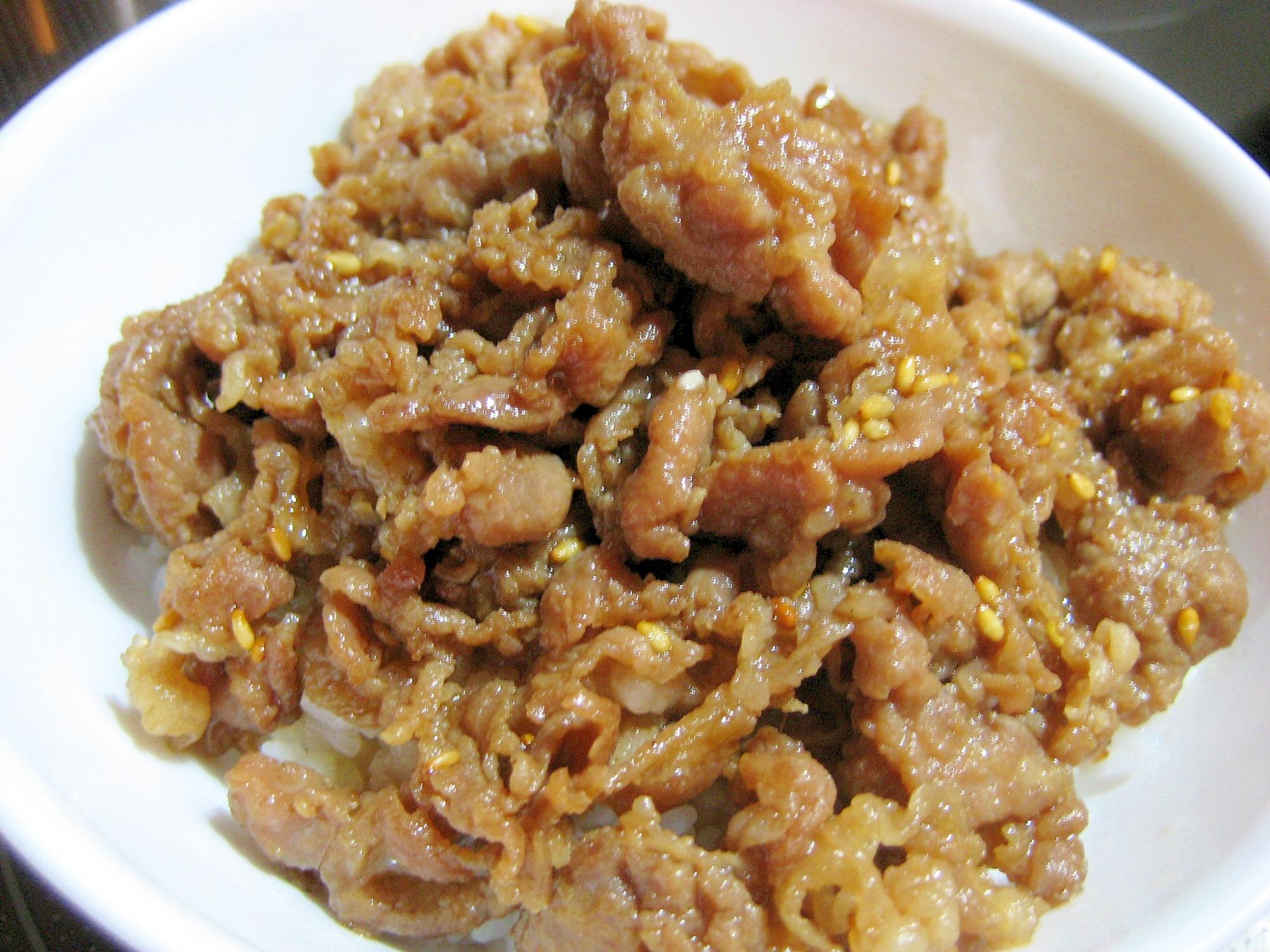 簡単ウマウマ!☆ヨシダソースグルメのタレで豚丼☆ レシピ・作り方
