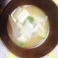 かんたん!こんにゃく入り味噌汁(*^^)v