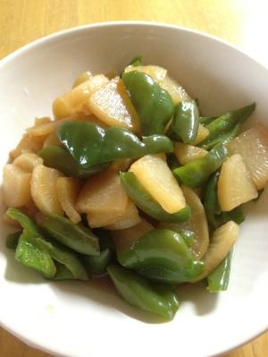 【簡単副菜】ピーマンと大根の甘辛煮