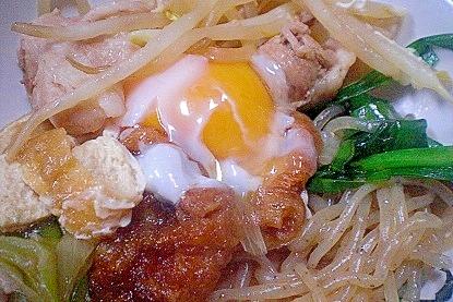 「豚肉&仙台麩ですき焼き風煮物」