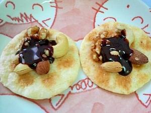 チョコナッツ海老煎餅