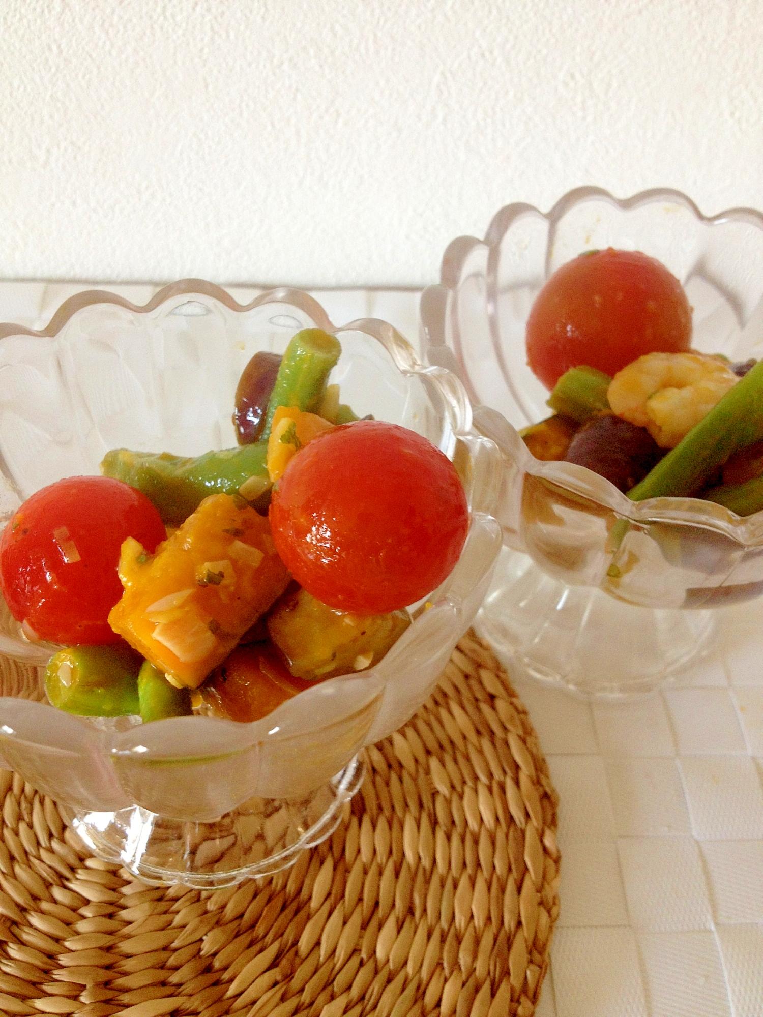 【お手伝いレシピ】夏野菜のコロコロサラダマリネ